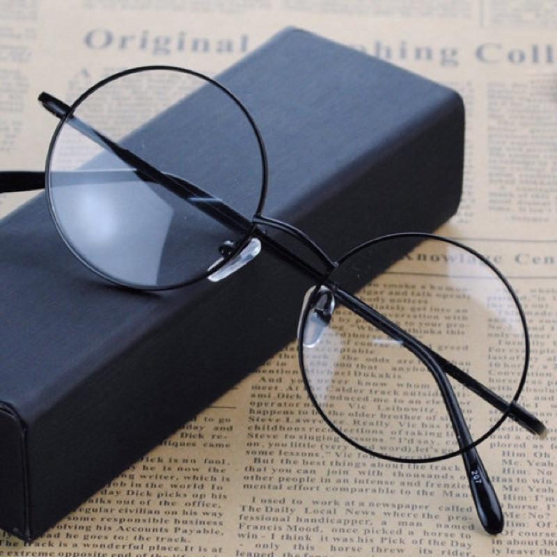 (兩副超取含運)復古圓框眼鏡書呆子眼鏡大圓眼鏡文青眼鏡圓眼鏡