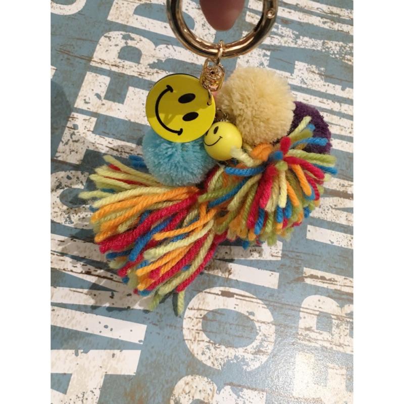 吊飾提拉米蘇微笑毛球流蘇鈴鐺甜心掛飾✨