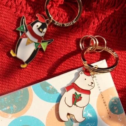 ~ ~北極熊企鵝聖誕新年鑰匙扣鑰匙圈 閨蜜原品