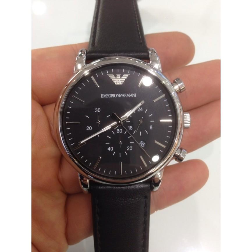 Armani 皮帶日曆男士手錶AR1828