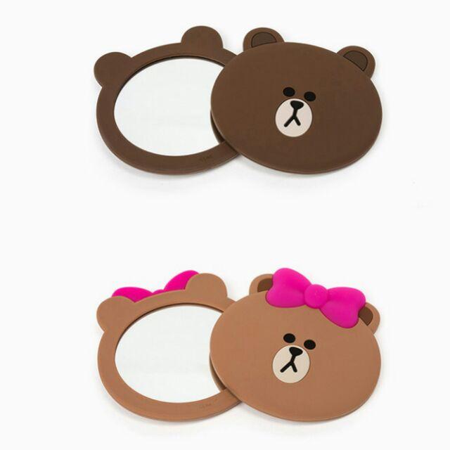 CHOCO 熊大兔兔隨身小鏡子化妝鏡小萌物 小物可愛鏡子小鏡子