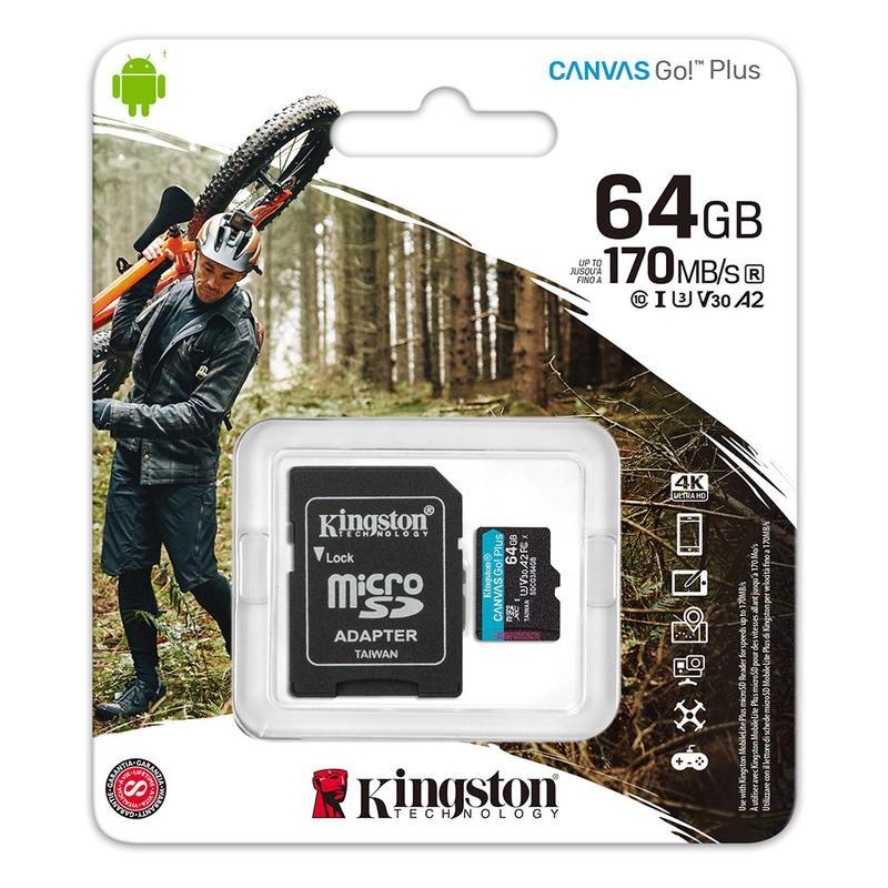 Kingston金士頓 microSDXC 64G A2 U3 記憶卡