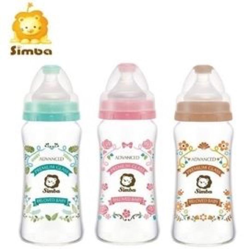 Simba 小獅王辛巴蘿蔓晶鑽寬口葫蘆玻璃大奶瓶