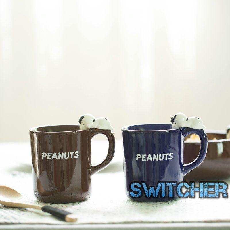 立體史努比陶瓷馬克杯咖啡杯牛奶杯
