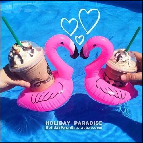 ( )夏日玩水 天鵝 充氣手機架飲料杯游泳圈
