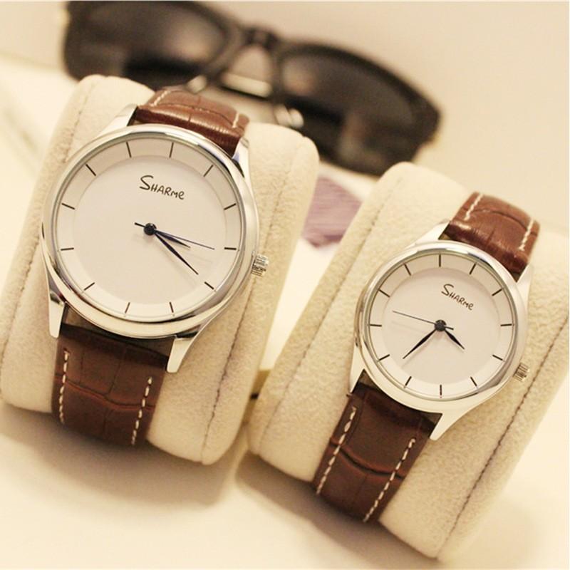 ~酷我 ~韓國手錶女學生 潮流復古簡約男表女表真皮帶情侶手錶一對
