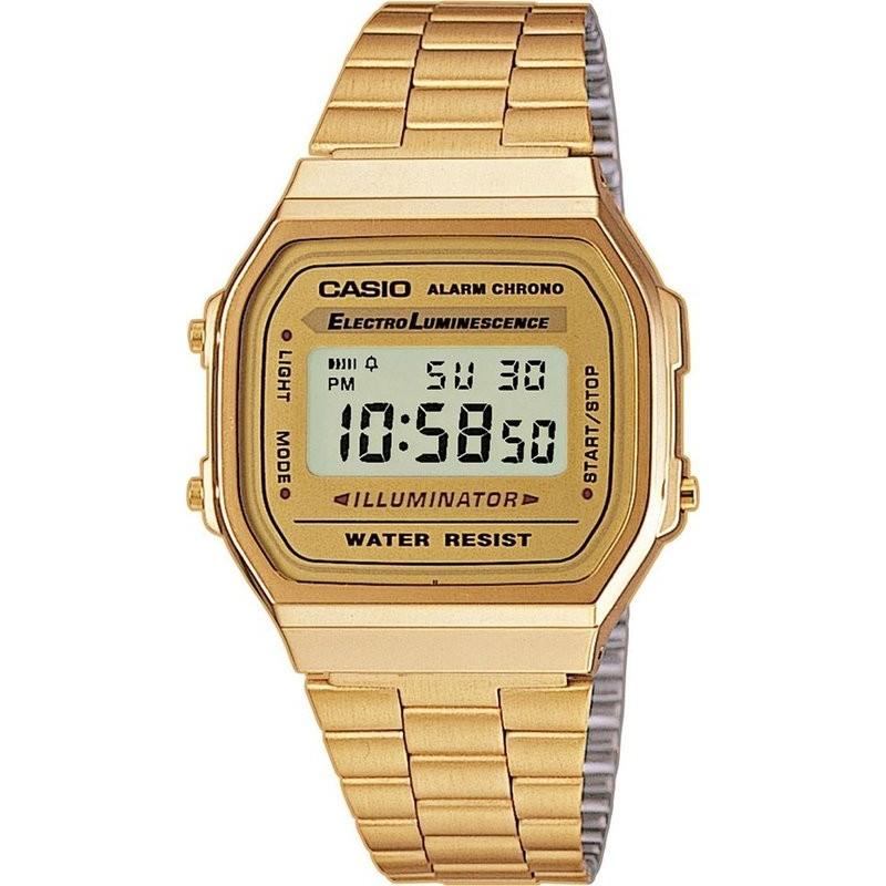 ~宏崑時計~CASIO 卡西歐復古 金錶A168WG 9W 防水 貨 一年