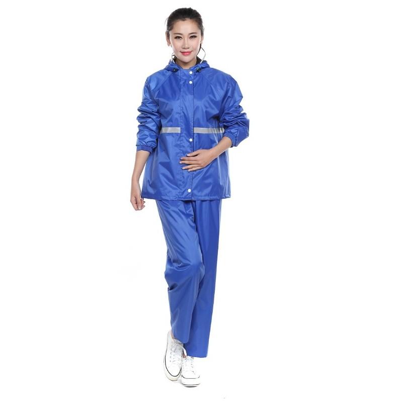 兩件式雨衣韓國 超防雨登山多重防水超風兩件雨衣夜光輕盈防水透氣機車雨衣