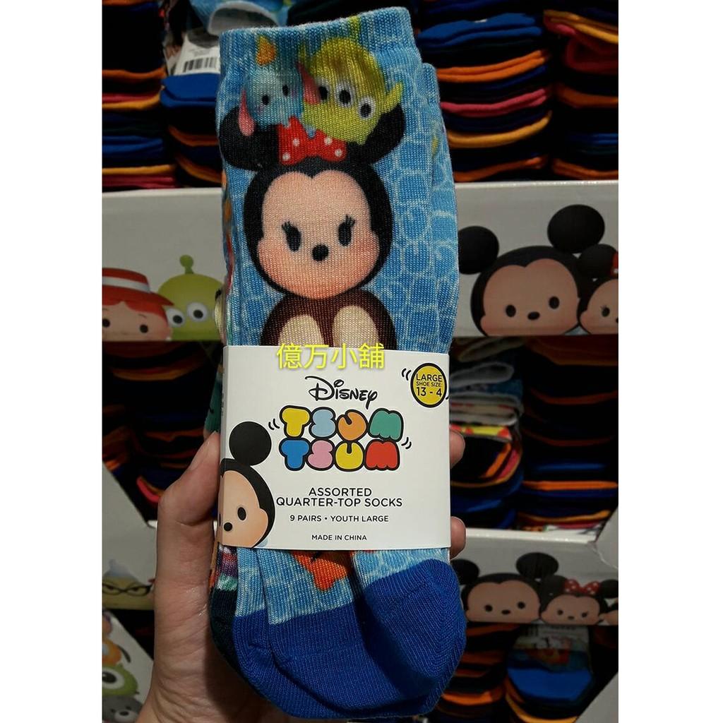 億万小舖442 ❇ ❇costco DISNEY 迪士尼KIDS 兒童短襪TSUM 襪子9