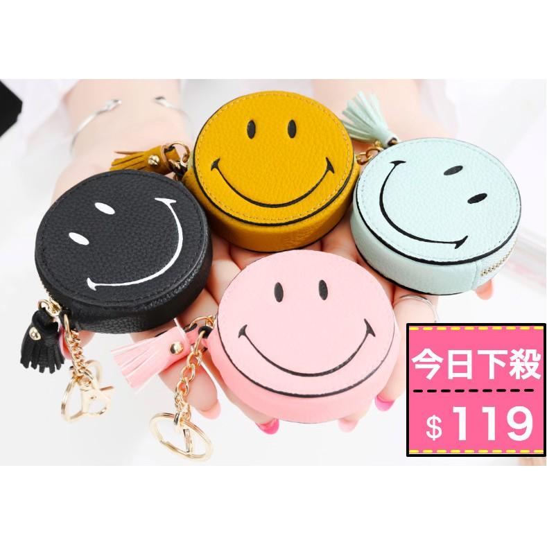 ~sunsmile ~你真的需要一個哆啦A 夢的口袋韓國流蘇笑臉鑰匙包mini 零錢包