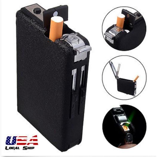 金屬鋁製上掀蓋香菸盒菸盒香煙盒媲美zippo 煙盒菸盒 內附瓦斯充氣打火機