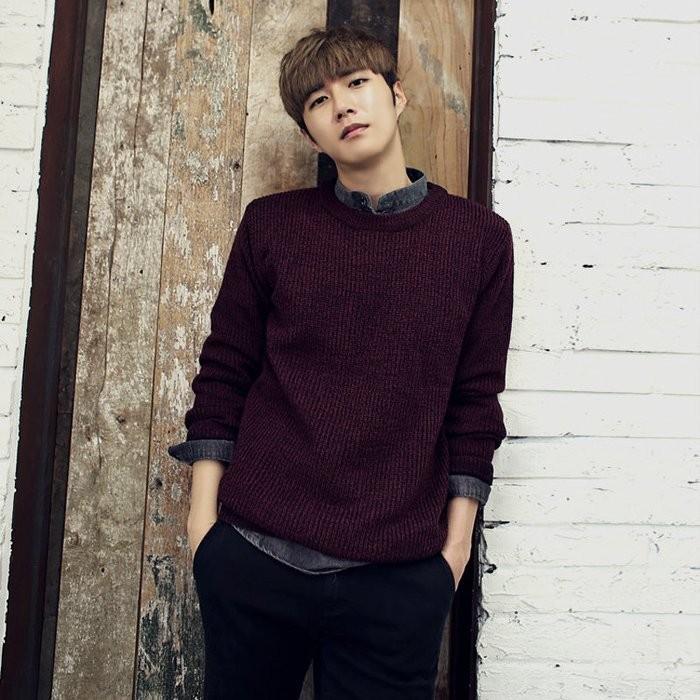 KUSO BOY 韓國年輕 簡約色調百搭時髦優雅美型針織毛衣毛線衣