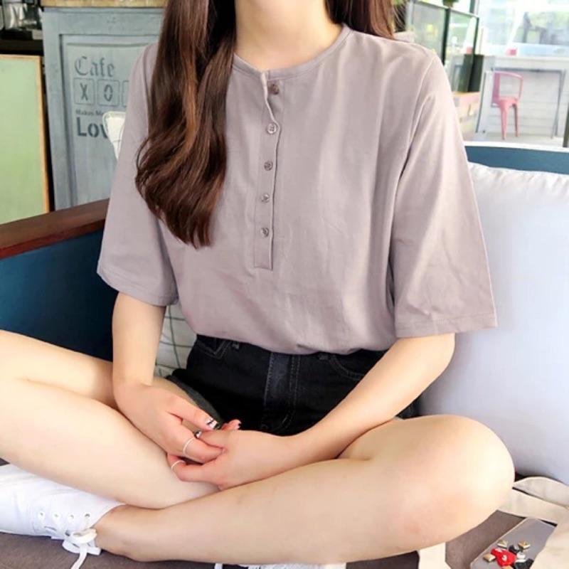 韓國訂單✈️鈕扣簡約百搭上衣
