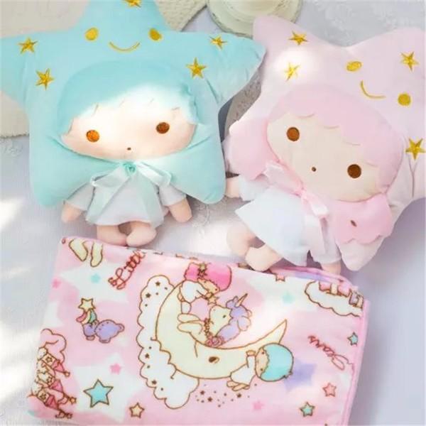 ♡雙子星kikilala 兩用抱枕毛毯棉被療癒靠墊辦公室空調被子午安枕頭三麗鷗抱枕毯子 韓