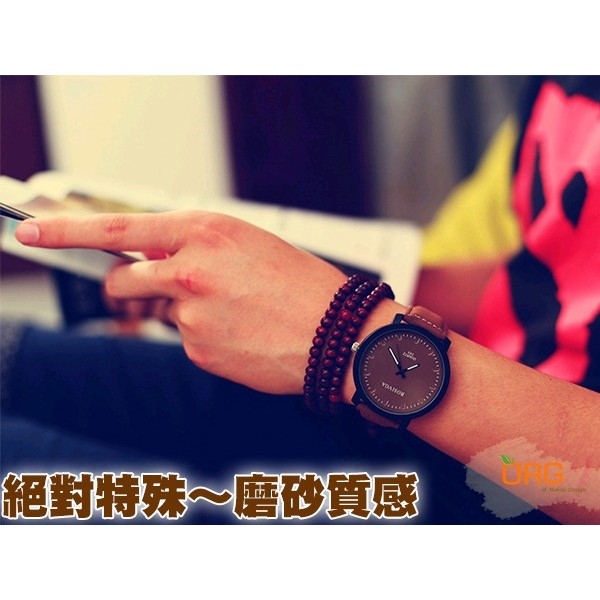 ORG ~WC0002 ~盒裝韓流復古原宿磨砂錶帶手錶女錶男錶情侶錶情侶手錶生日情人節 學