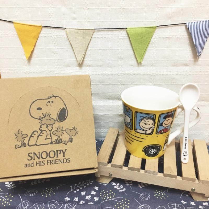 Snoopy ✨巴士馬克杯附小湯匙