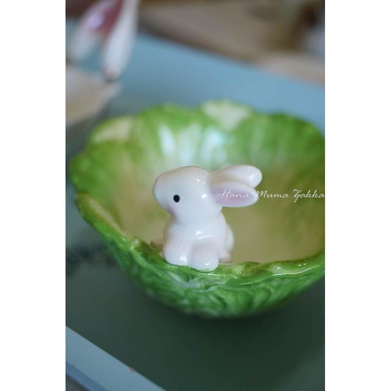 白菜立體兔子碗可愛陶瓷小兔童話野餐露營餐具復古雜貨童趣可愛花木馬 雜貨