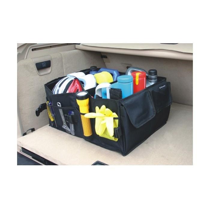汽車後車箱收納汽車折疊收納箱汽車雜物袋收納袋整理箱後車廂置物箱 提把