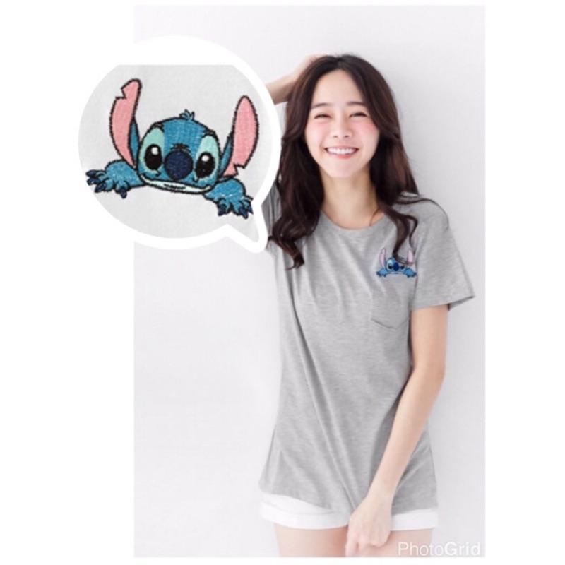 FIFFY ❤️正韓史迪奇stitch 刺繡棉質上衣韓國製