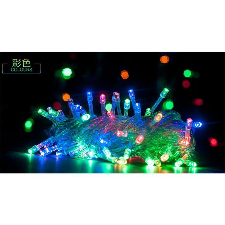 好貨網10 米100 燈LED 聖誕樹聖誕燈插電式電池式防水防雨彩色閃爍附控制器多段式模式