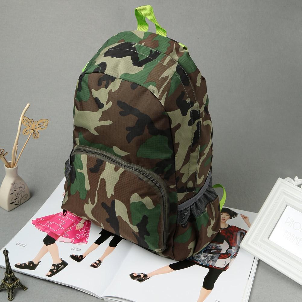 Baggra 男包迷彩背包 迷彩可折疊收納可調節背帶輕便雙肩包 雙肩包