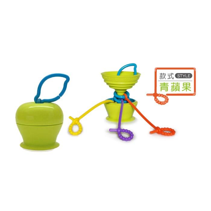 ~ 5 10 之前寄出~美國Grapple 矽膠 小物三爪玩具俏吸盤青蘋果
