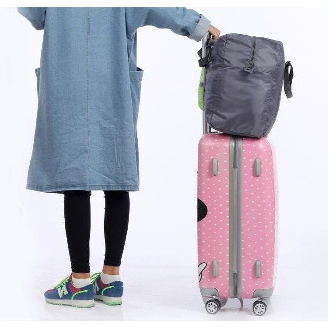 ~HeyHeyshopee ~防潑水折疊式拉桿手提袋行李袋收納折疊收納大容量行李桿旅行袋行