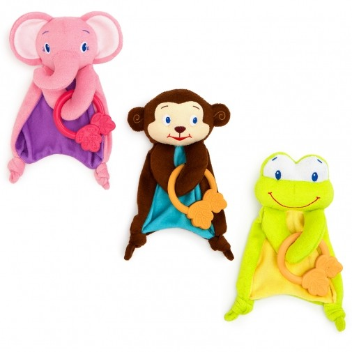 ☑當天寄☑抵蝦幣☑ 貨Kids II BrightStarts 可愛動物布偶固齒器