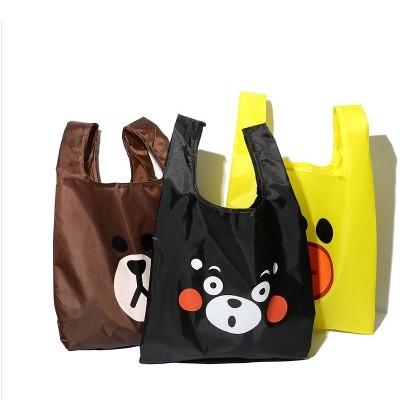 熊本熊熊大莎莉萌萌圖防水背心袋 袋收納袋 摺疊輕量