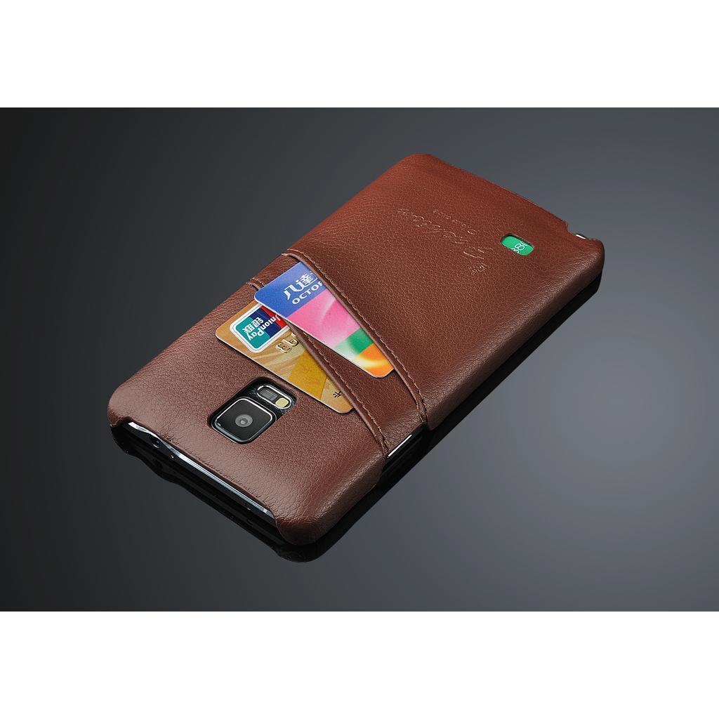 Samsung 三星Note4 N910U 背蓋後殼後蓋背殼頭層牛皮真皮手機皮套保護套保護