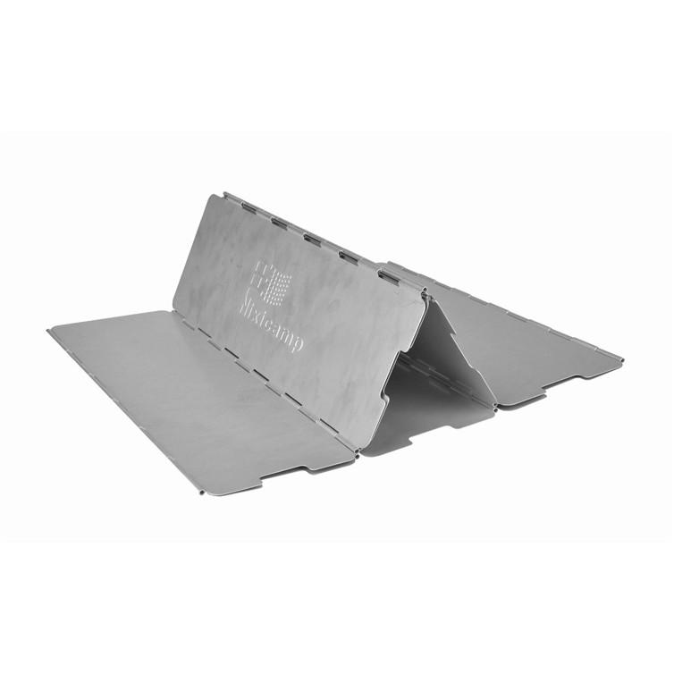Nixic 鋁製擋風板10 片瓦斯爐攻頂爐折疊式擋風板附收納袋NI03