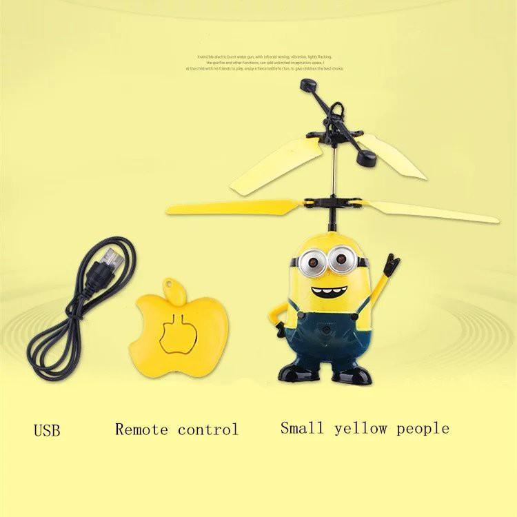 發光芭比小黃人感應飛行器遙控飛機兒童玩具