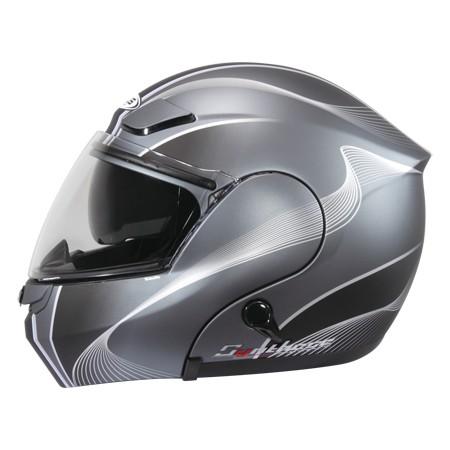 ZEUS ZS3000A GG7 彈性鐵灰黑可輕易更換全罩與半罩內藏式遮陽鏡片