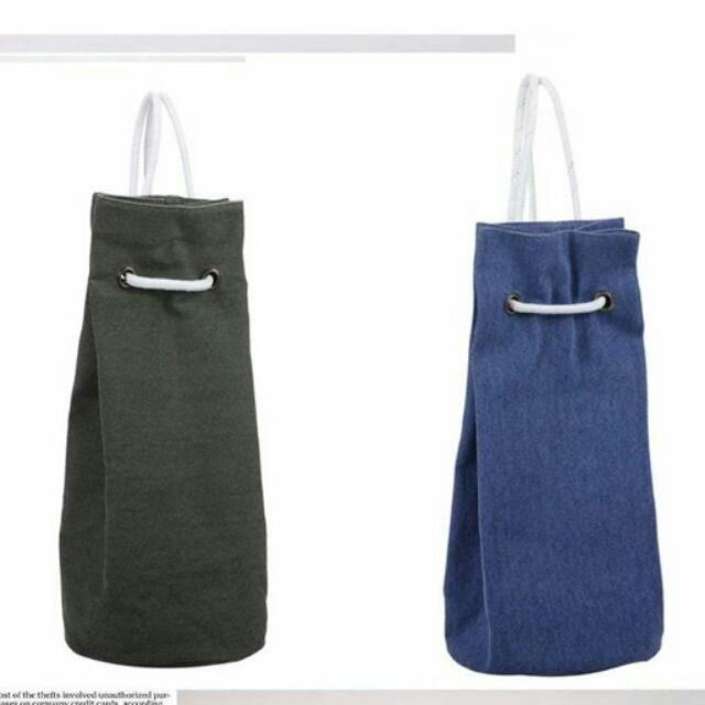 新潮男女 單肩帆布水桶 包雙肩圓桶包旅遊包學生包旅行休閒籃球包