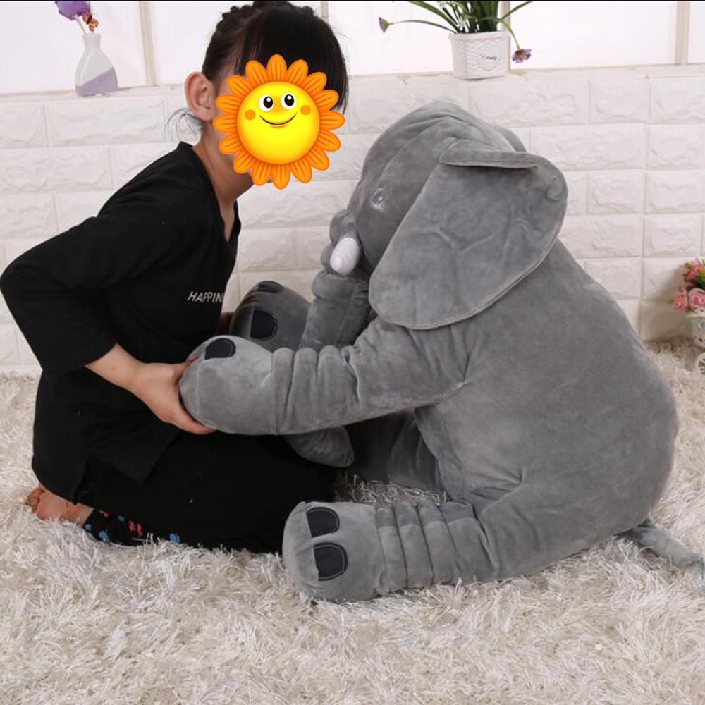 28 33 柔軟毛絨大象公仔玩具抱枕玩偶公仔兒童枕