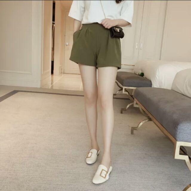 H3404  ,超顯瘦孕婦短褲,雪紡褲, 孕婦褲