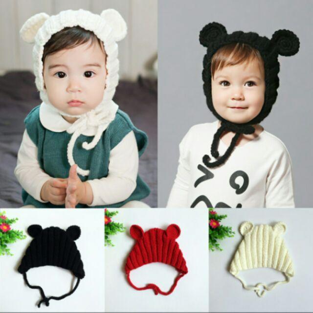 寶寶幼兒 款米奇寶寶可愛毛線帽