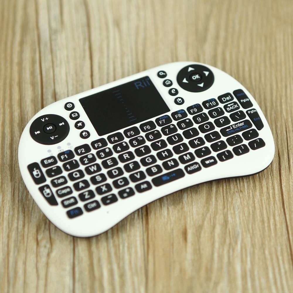 迷你無線鍵盤帶觸控板DPI 可調節飛鼠滑鼠遙控器2 4GHz Rii Mini i8