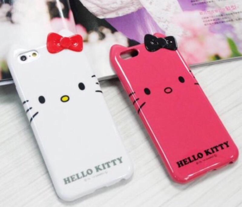 iPhone6 手機殼iPhone 6s Hello Kitty 豹紋手機殼立體蝴蝶結保護