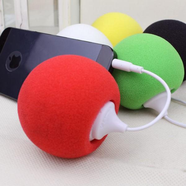 迷你小音箱糖果色氣球音箱YX002 手機平板MP3 MP4 電腦3 5mm 插孔 便攜海綿