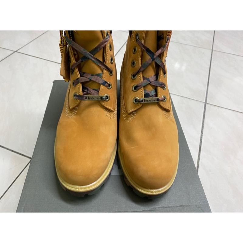 Timberland 男款小麥黃色迷彩底保暖6吋靴。新北台北可面交