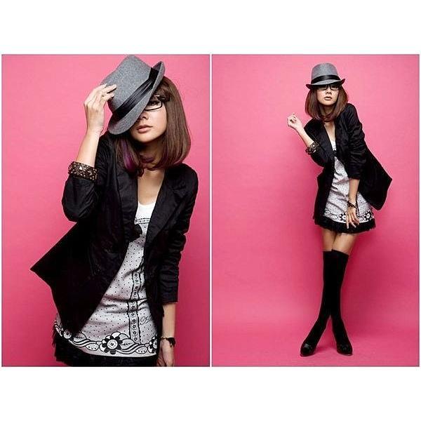 黑色長袖百搭單品修身顯瘦雙排扣長版OL 西裝外套夾克風衣防曬衫空調 百搭日韓