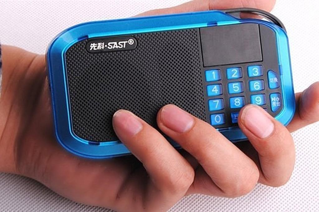 先科S 201 迷妳音響便攜式插卡老人收音機晨練外放小音箱mp3 播放器
