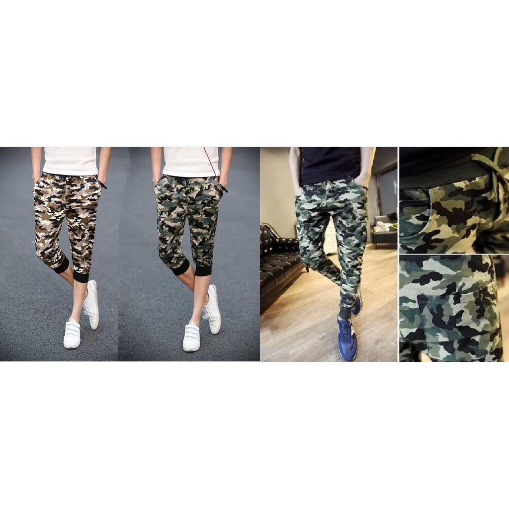 買一送一2 件388 狂賣百件迷彩束腳褲哈倫 褲子 修身小腳褲 款