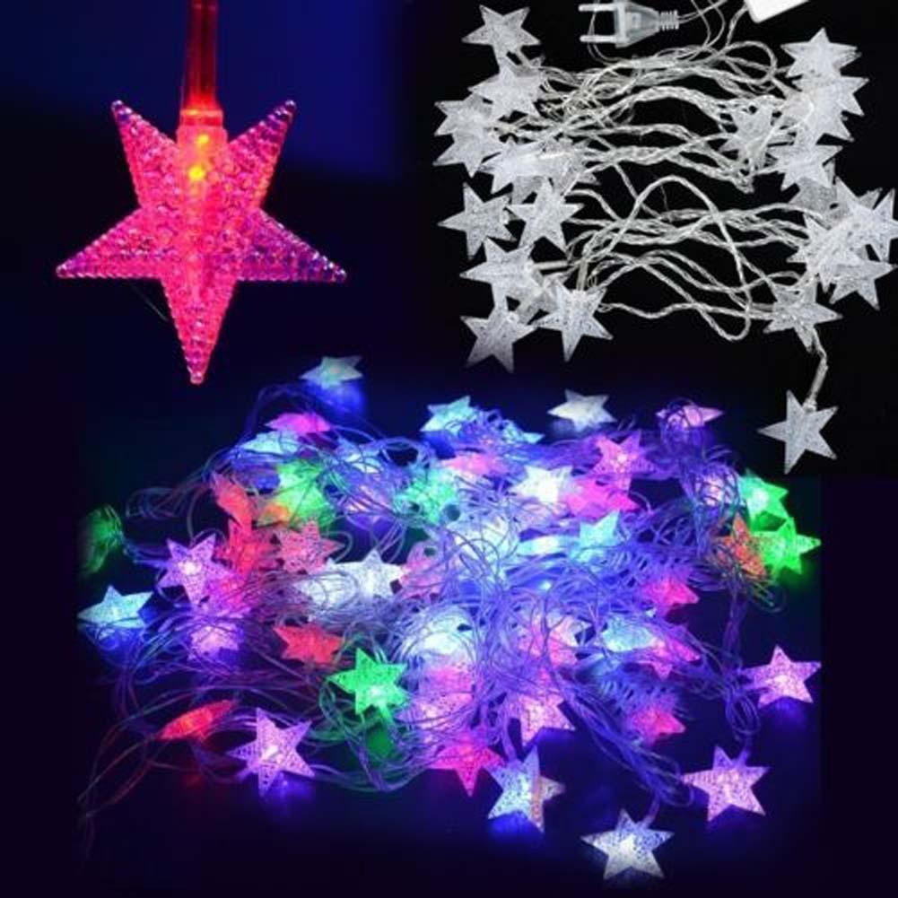 LED 五星字符串燈聖誕婚禮派對裝飾