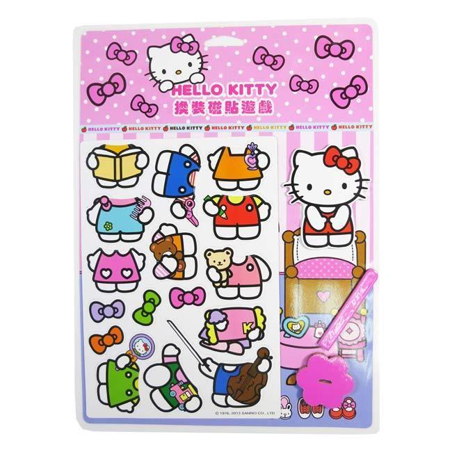 BABY 媽咪ㄉ天堂→Hello Kitty 換裝磁貼遊戲