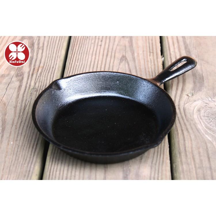 ~興富大行餐具~ 製~鑄鐵牛排煎盤6 5 吋~鑄鐵圓形煎盤平底煎鍋迷你焗烤盤煎牛排鐵板燒