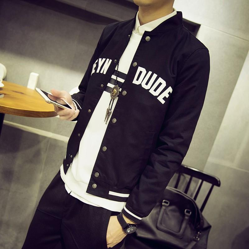☞☞❤ 匯❤☜☜男士外套春 男裝修身型薄夾克潮流 青少年棒球服男棒球外套防風外套針織衫針織