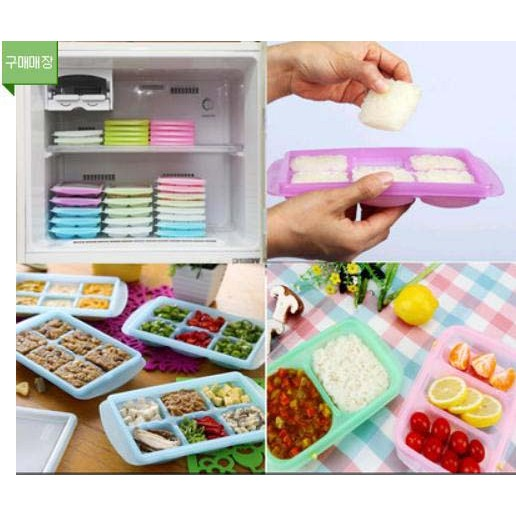 韓國製韓國 JM Green 副食品分裝盒冰磚盒製冰盒食物儲存盒保鮮冷凍盒 晴媽咪食物泥