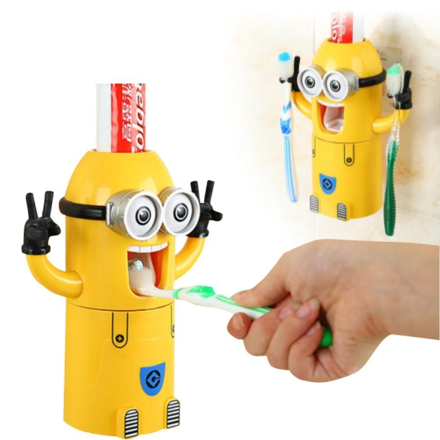 牙膏架牙刷架小小兵洗漱套裝小小兵自動擠牙膏牙膏機擠牙膏器